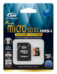 Карта памяти Team Xtreem MicroSDHC UHS-1 16GB + SD-adapter (TUSDH16GUHS03)