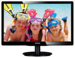 "Philips 19.53"" 200V4QSBR/00 MVA Black; 1920 x 1080, 250 кд/м2,8мс, VGA, DVI-D"