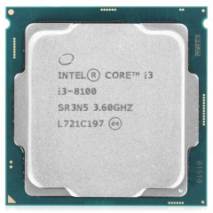 Intel Core i3 8100 3.6GHz (6MB, Coffee Lake, 65W, S1151) Tray (CM8068403377308)